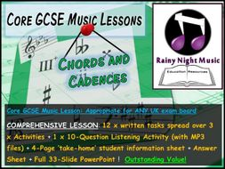 GCSE Music CHORDS and CADENCES