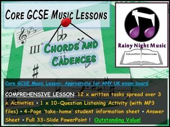 GCSE Music CHORDS and CADENCES