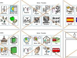 SEN resources NOW & NEXT board and 40 SCHOOL timetable cards Autism/ADHD/etc