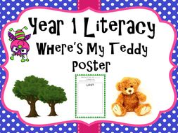 Year 1 Literacy - 'Where's my teddy' Poster