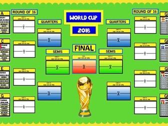 2018 WORLD CUP WALL DISPLAY