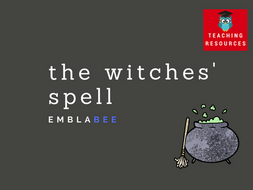 The Witches' Spell - Counting activity