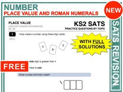 KS2 Maths (Place Value + Roman Numerals)
