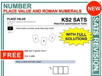 KS2 Maths (Place Value + Roman Numerals)