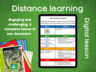 SB1.9 Active transport Distance learning (AQA GCSE Bio)