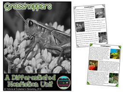 Differentiated Nonfiction Unit: Grasshoppers