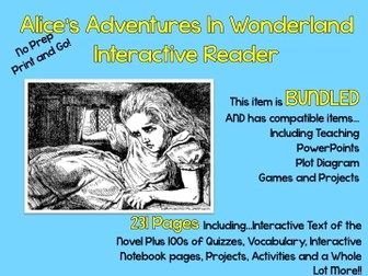 """Alice's Adventures in Wonderland"" Interactive Reader -- ebook and 100's of Lessons"