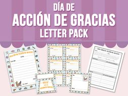 Día de Acción de Gracias - Letter Pack