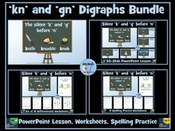 'kn' and 'gn' Digraphs Bundle