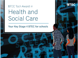 BTEC Tech Award in Health and Social Care L1&2  PIES