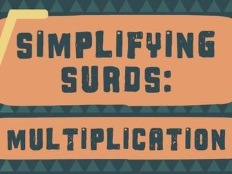 Video: Simplifying Surds: Multiplication