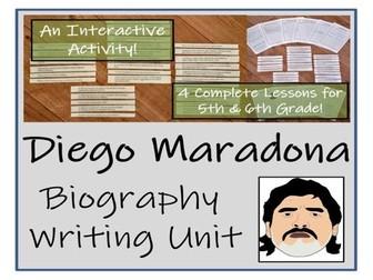UKS2 Literacy - Diego Maradona Biography Writing Unit