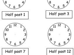 Half Past Worksheets Drawing Hands On Clocks 2 Worksheets By