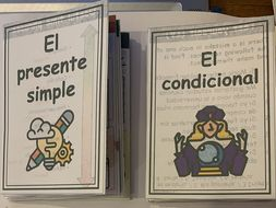 Spanish KS4 - The present tense - Accordion book