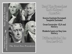 State of the Union Addresses: The First  5 President PLUS CCSS Document Analysis Template