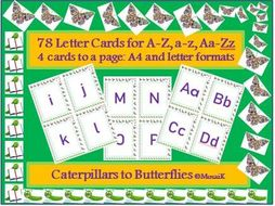 Literacy 78 alphabet cards for various activities