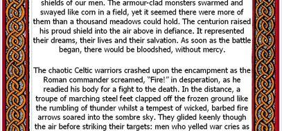 Roman Battle Setting Description Pack