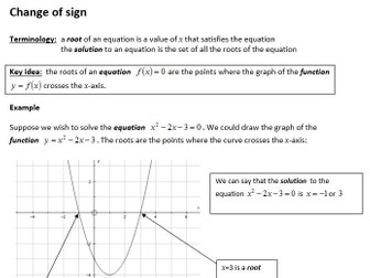 Edexcel New Linear Maths A Level Year 2 Topic 10: Numerical Methods