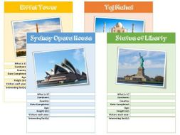 Famous Landmarks Factfile Activity