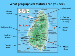 Identifying the human and physical features of St Lucia - KS2