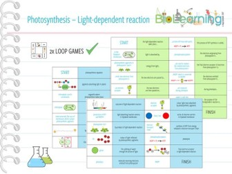 Photosynthesis: Light-dependent reaction - 2x Loop Games (KS5)