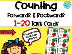 Counting Forwards and Backwards 1-20 Task Cards