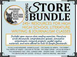 245+ High School English Assessments - Growing Store Bundle