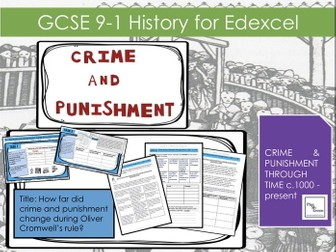 Edexcel GCSE  Punishment L11How far did crime and punishment change during Oliver Cromwell's rule?