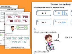 Year 1 Compare Number Bonds Autumn Block 2 Maths Homework Extension