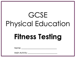 GCSE PE Components Of Fitness Testing Booklet OCR 2016