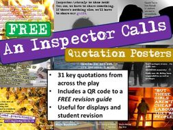 An Inspector Calls Quotes Display