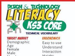 Design & Technology Literacy Mats KS3 & KS4