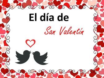 El Día de San Valentín / St. Valentine's Day - Spanish