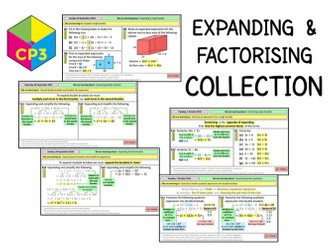 Expanding and factorising COLLECTION (Bundle)