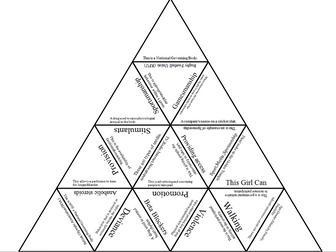 GCSE PE New OCR spec, Paper 2, Tarsia Triangle bundle by