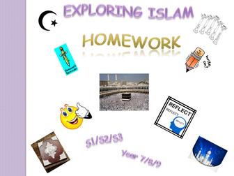 Exploring Islam - homework