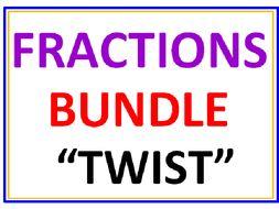 Fractions BUNDLE TWIST 12 Worksheets