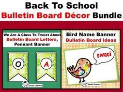 Bird/Spring Theme, Back To School, Bulletin Board Decor Bundle