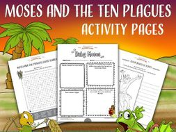 Moses and the Ten Plagues Activity Pack FREEBIE