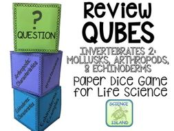 Mollusks, Arthropods, & Echinoderms Review Qubes for Life Science