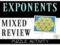 Exponents - Mixed Practice and Review of Exponents Puzzle Activity