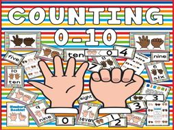 COUNTING NUMBERS 0-10 MATHS NUMBER TEACHING RESOURCES EYFS ADDITION NUMERACY