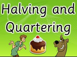 Fractions Halves and Quarters. Interactive Scooby Doo Ppt AAAA+ with YouTube preview