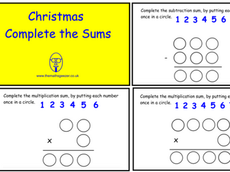 Christmas Complete The Sum (pdf version)