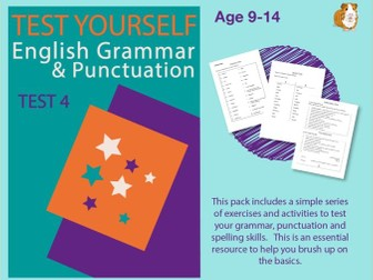 Assessment Test 4 (Improve Your English Work Pack) 9-14 years