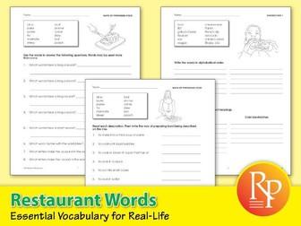 Restaurant Words: Essential Vocabulary