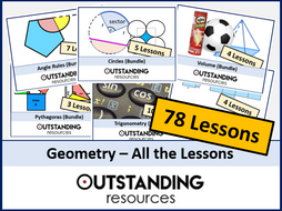 Geometry: ALL Lessons (78 Lessons) + ALL Resources