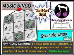 MUSIC BINGO Notation