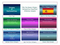 Origins-Nationalities PowerPoint Slideshow
