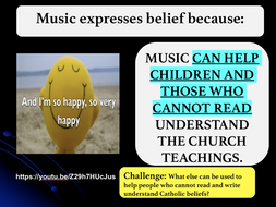 How Music expresses Catholic Belief.